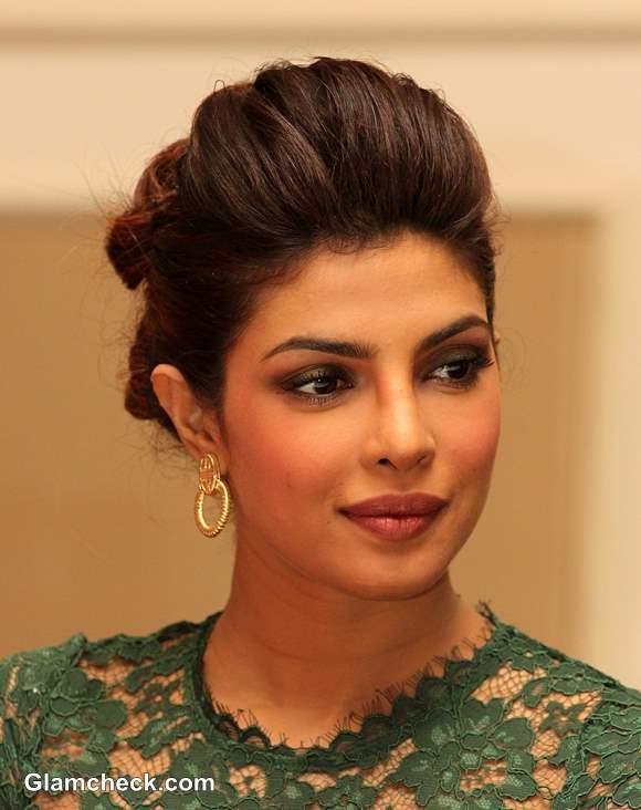Priyanka Chopra Bun Hairstyle 2013
