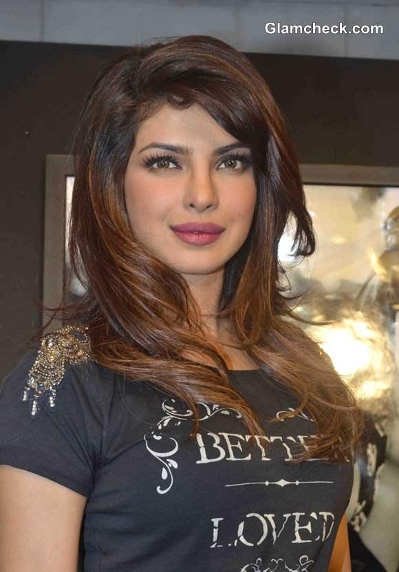 Priyanka Chopra Hairstyle Pictures 2013