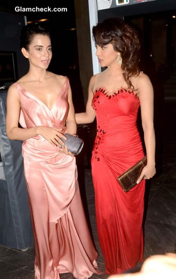 Priyanka Chopra Kangana Ranaut at Hello Magazine Awards 2013