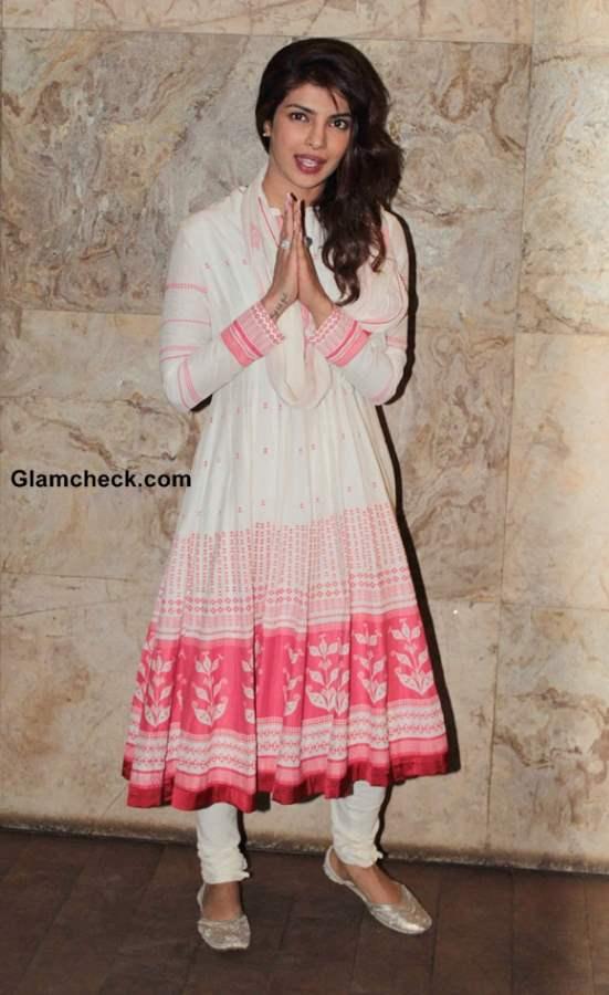 Priyanka Chopra Pictures at Ram-Leela Screening