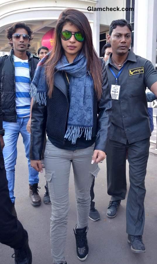 Priyanka Chopra arrives at Jodhpur Airport 2013
