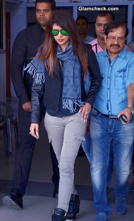 Priyanka Chopra at Jodhpur Airport 2013