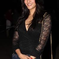 Raima Sen in Black Lace Shirt for Do in Goa