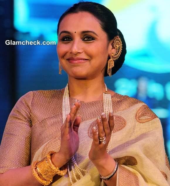 Rani Mukherjee in Sari at 44th International Film Festival in Goa