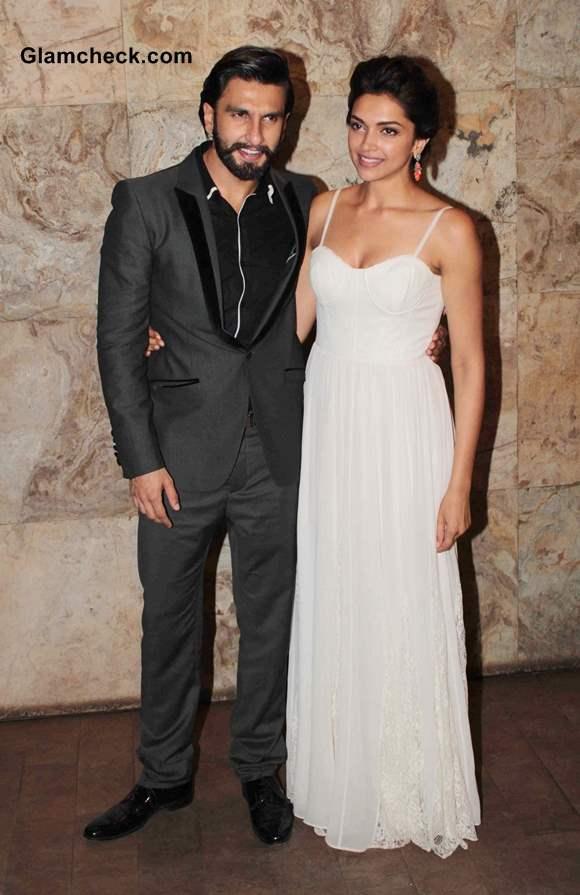 Ranveer Singh and Deepika Padukone at Ram Leela Screening