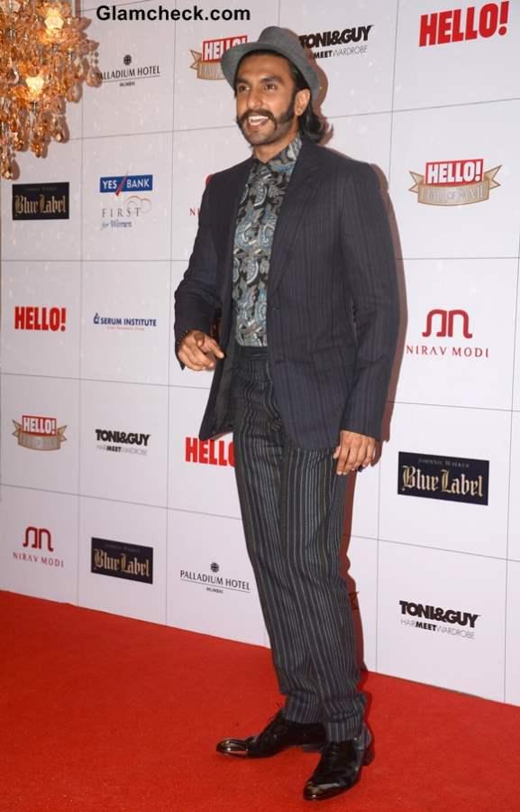 Ranveer Singh at 2013 Hello Magazine Awards