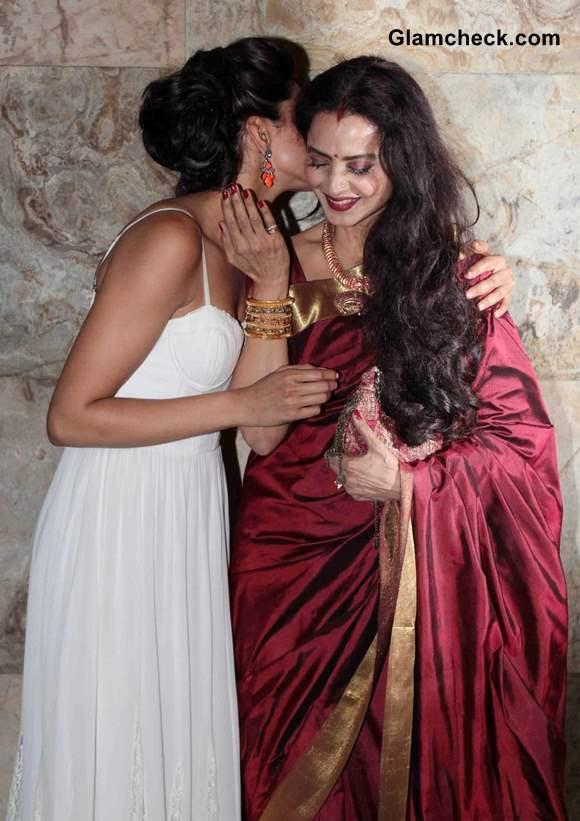 Rekha and Deepika Padukone 2013