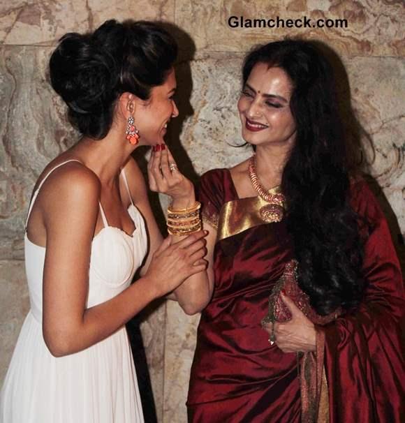 Rekha and Deepika Padukone Pictures