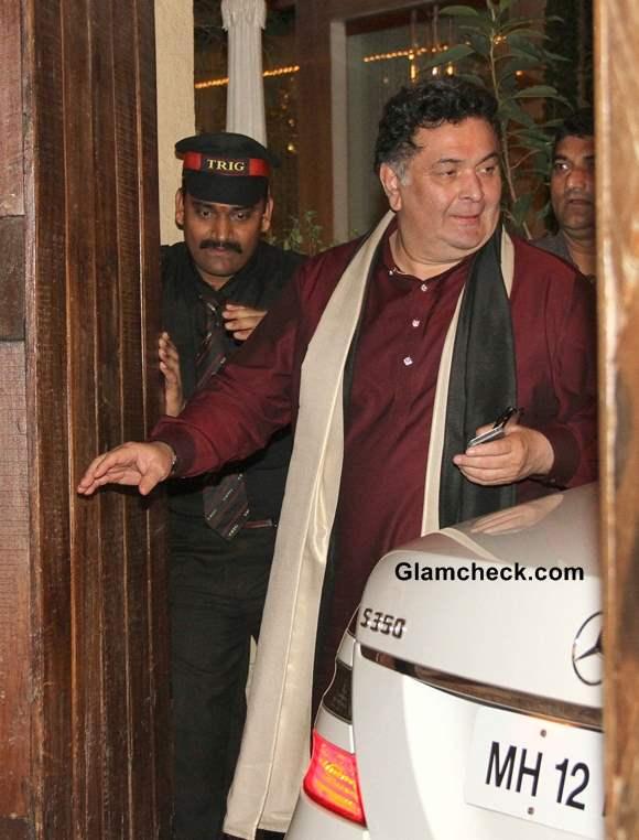 Rishi Kapoor at Bachchan Diwali Party 2013
