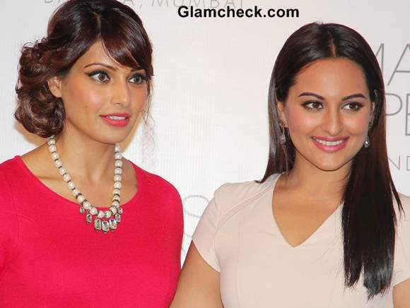 Bipasha Basu and Sonakshi Sinha at Marks  Spencer Store Opening in Mumbai