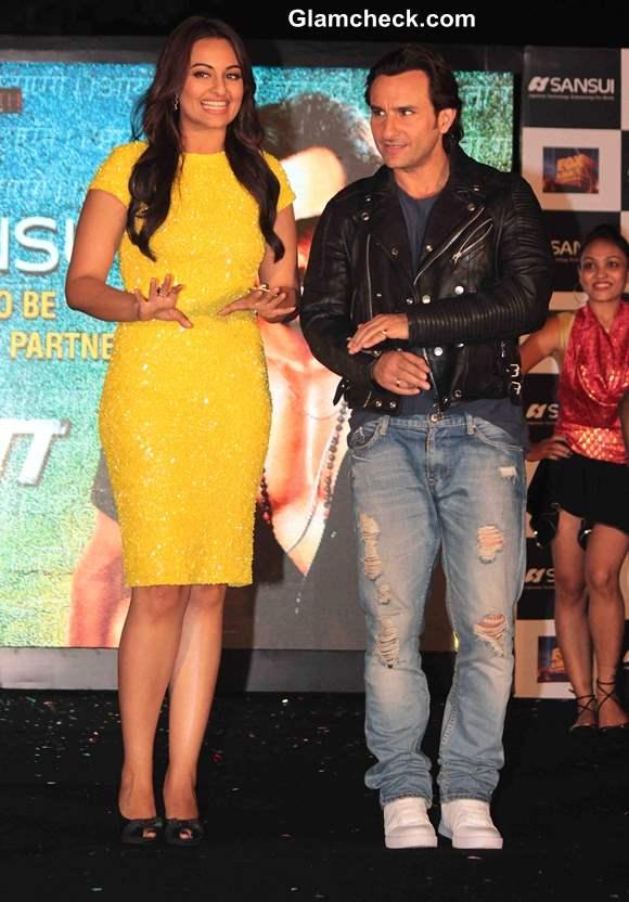 Saif Ali Khan Sonakshi Sinha at Bullet Raja Music Launch