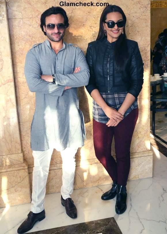 Saif Ali Khan and Sonakshi Sinha Promote Bullett Raja