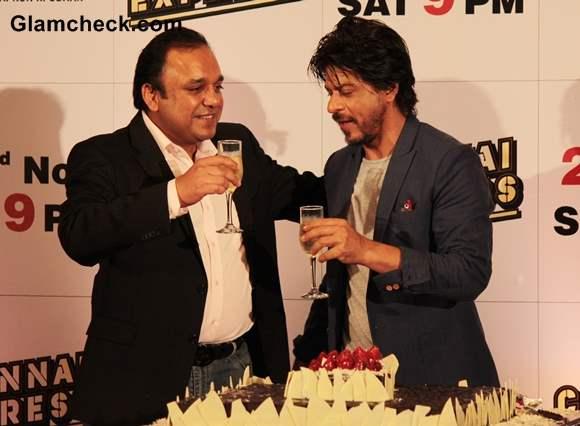Shahrukh Khan at Chennai Express Success with Zee TV