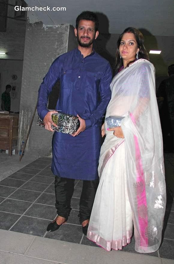 Sharman Joshi with wife Prerna  at Aamir Khan Diwali Party