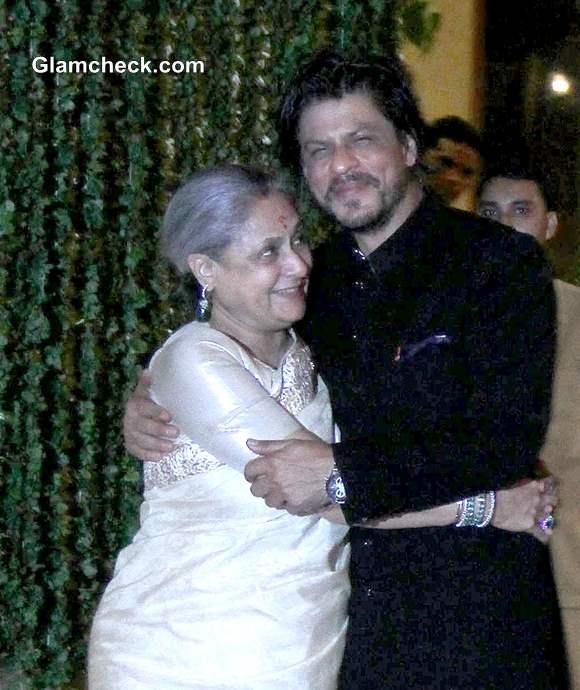 Sharukh Khan at Bachchan Diwali Party 2013