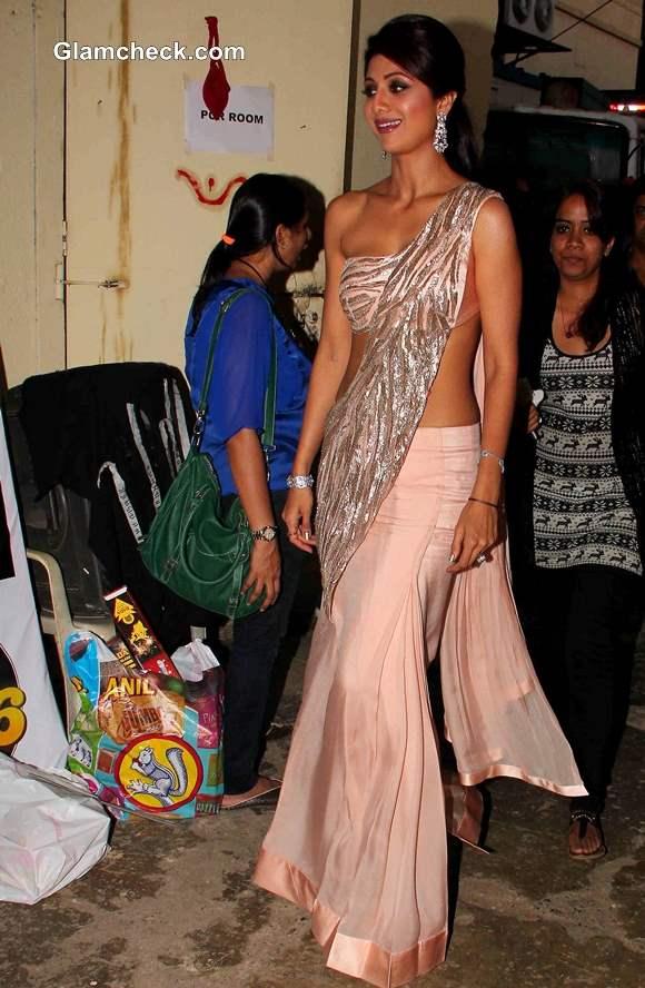 Shilpa Shetty In Gaurav Gupta Outfit during Diwali celebration on Nach Baliye 6