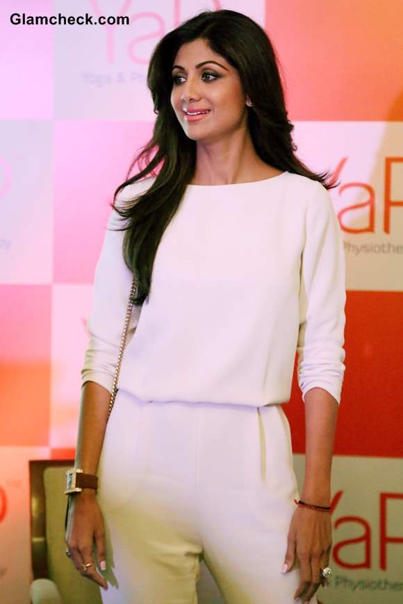 Shilpa Shetty in white outfit at YaP Launch 2013