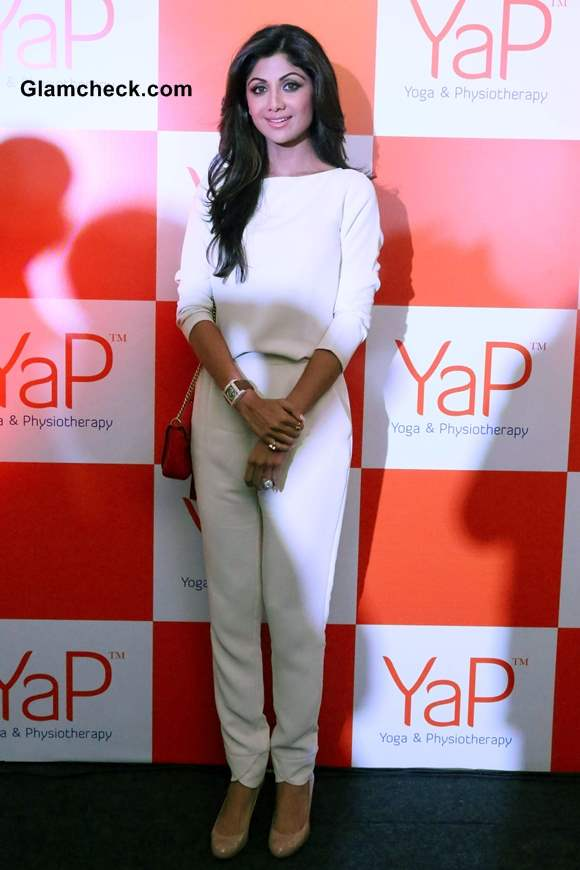 Shilpa Shetty in white outfit at YaP Launch