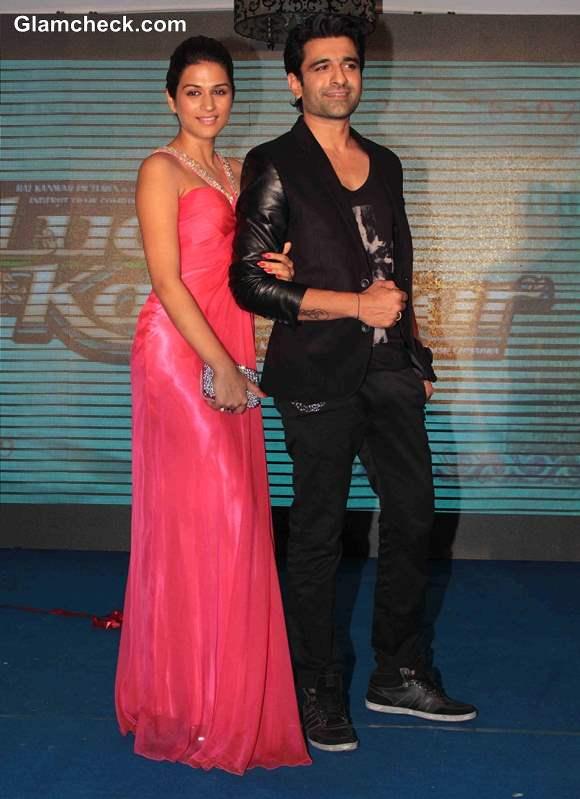 Shradhha Das and Eijaz Khan at Lucky Kabootar Music Launch