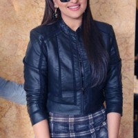 Sonakshi Sinha Biker Chic look at Bullett Raja Promotions