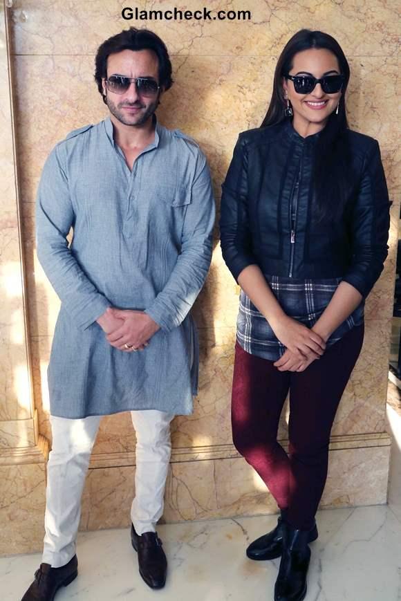 Sonakshi Sinha Look at Bullett Raja promotions