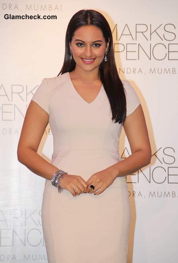 Sonakshi Sinha at Marks  Spencer Store Opening in Mumbai