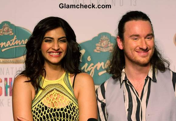 Sonam Kapoor in Mark Fast Gown at SIFW 2013 – Day 1