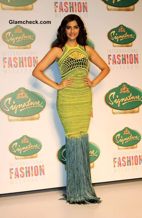 Sonam Kapoor in Mark Fast gown at SIFW 2013  pics