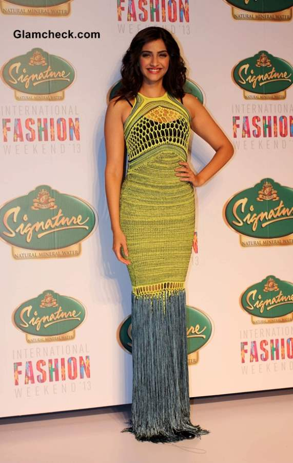 Sonam Kapoor in Mark Fast gown at SIFW 2013  pictures