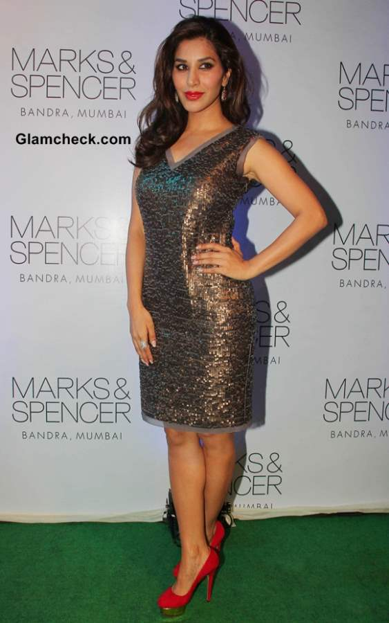 Sophie Choudhary at New Marks and Spencer Store Launch in Mumbai