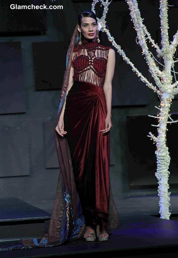 Suneet Varma outfits 2013 Blenders Pride Fashion Tour