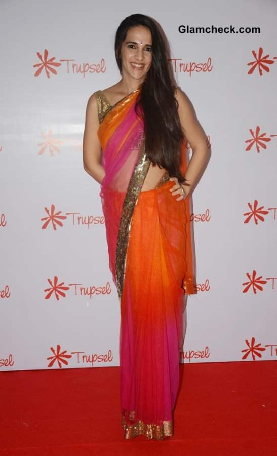 Tara Sharma in sari