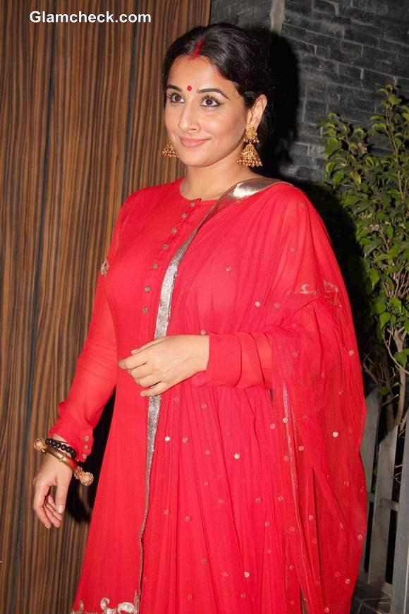 Vidya Balan at Aamir Khan Diwali Party