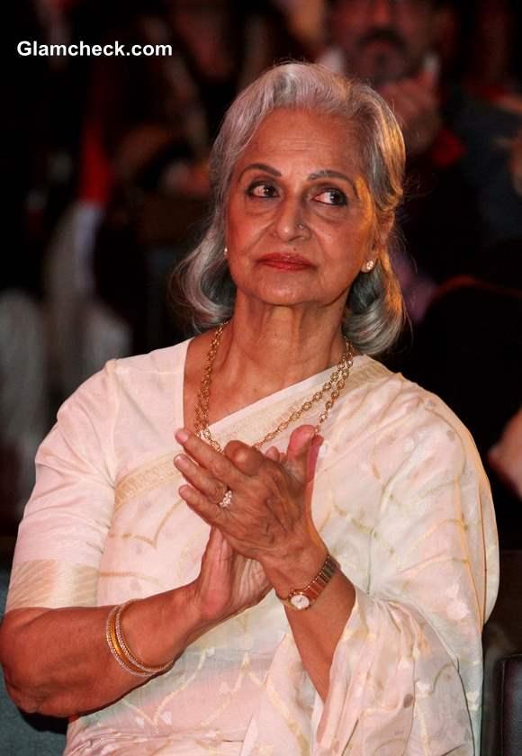 Waheeda Rehman 2013 at 44th International Film Festival in Goa