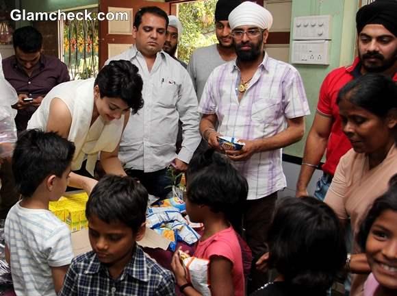 Yukta Mookhey Celebrates Diwali with Underprivileged Kids