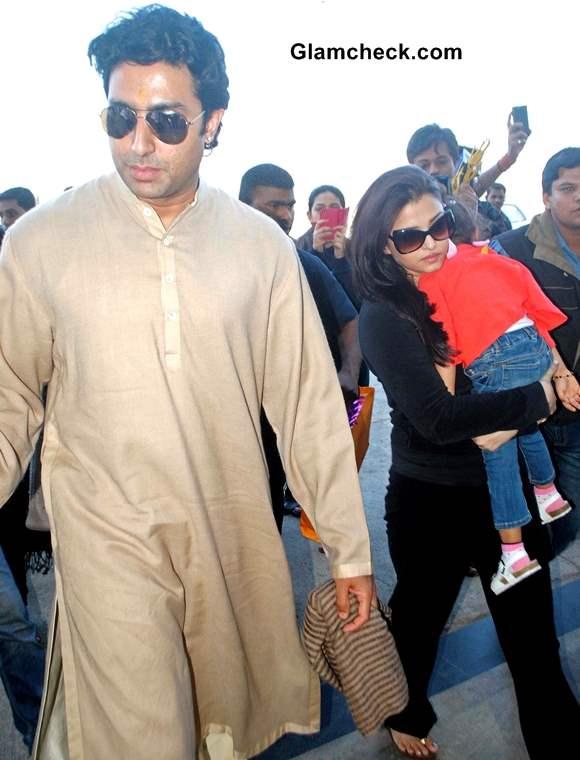 Abhishek Aishwarya and Aaradhya Bachchan