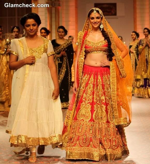 Aditi Rao Hyadri for Preeti Misharm Kapoor at IBFW 2013