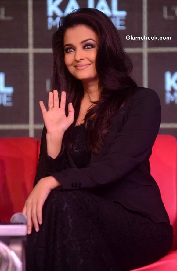 Aishwarya Rai in Dolce and Gabbana at  LOreal Kajal Magique Launch