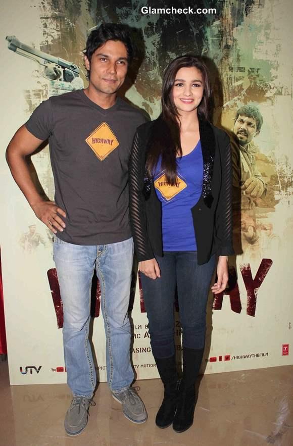 Alia Bhatt and Randeep Hooda at Highway Trailer Launch in Mumbai