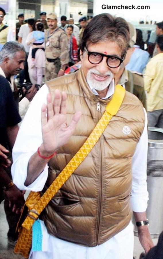 Amitabh Bachchan Airport Style