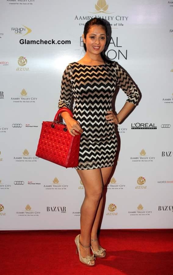 Anjana Sukhan at Aamby Valley India Bridal Fashion Week 2013 Mumbai