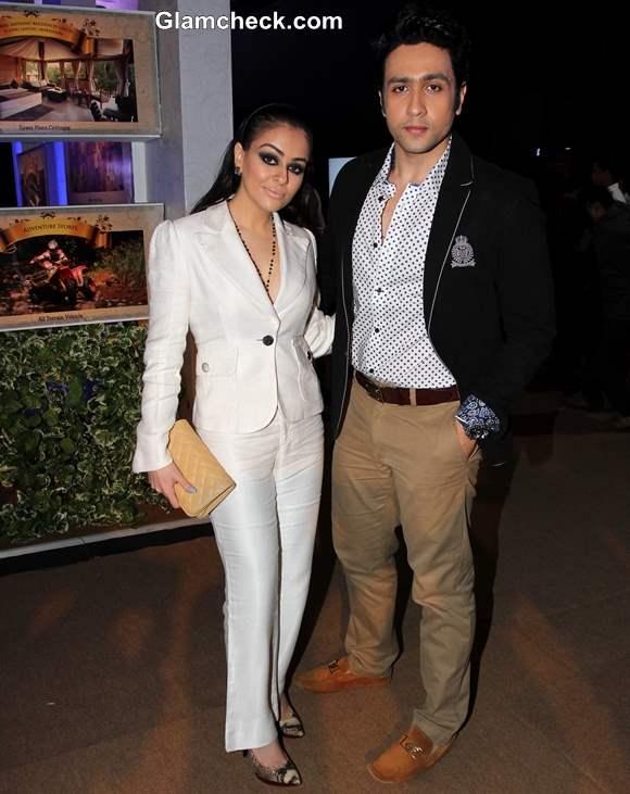 Ariana Ayam and Adhyayan Suman at India Bridal Fashion Week 2013 Mumbai