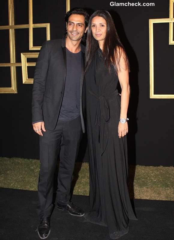 Arjun Rampal with his wife MehrJesia
