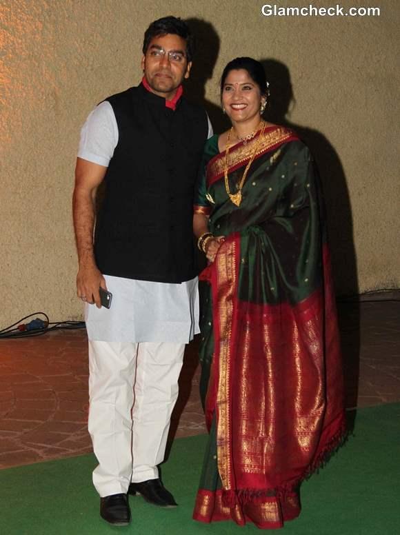 Ashutosh Rana with is wife and actor Renuka Shahane