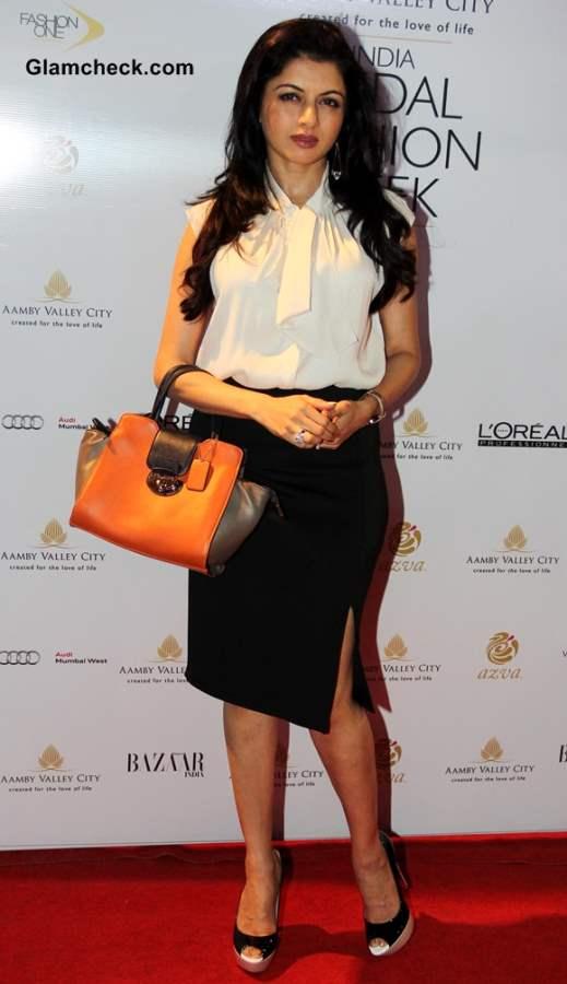 Bhagyashree at India Bridal Fashion Week 2013 Day 6