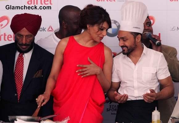 Bipasha Basu and Rahul Bose Cooking at Pasta Party