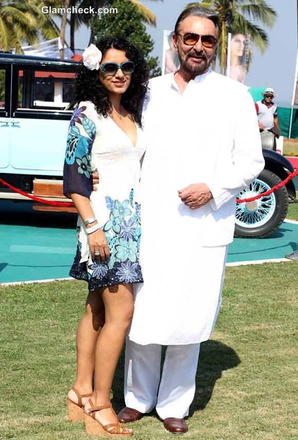 Bollywood actor Kabir Bedi with his wife Parveen Dusanj