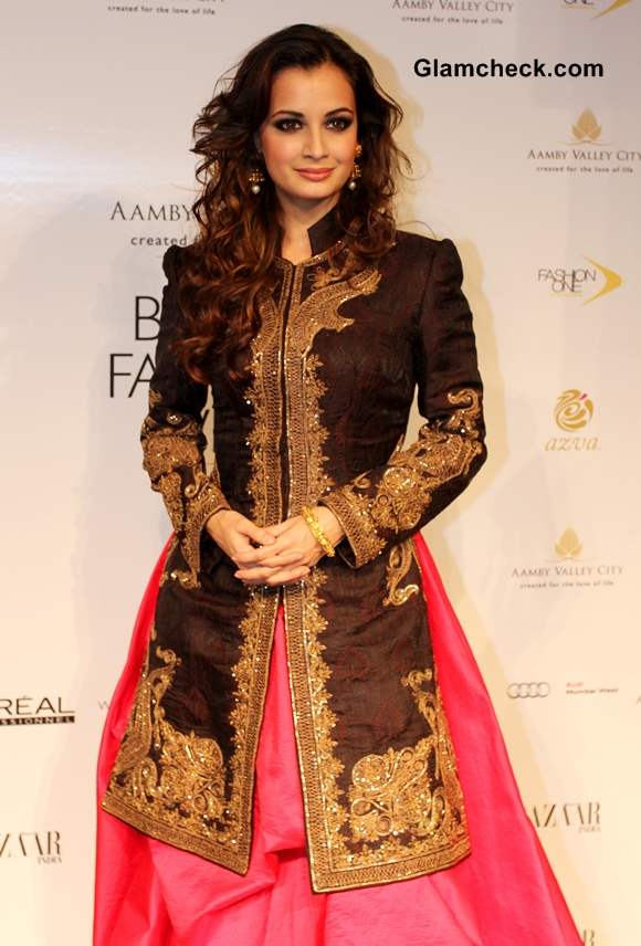 Dia Mirza India Bridal Fashion Week 2013 Mumbai