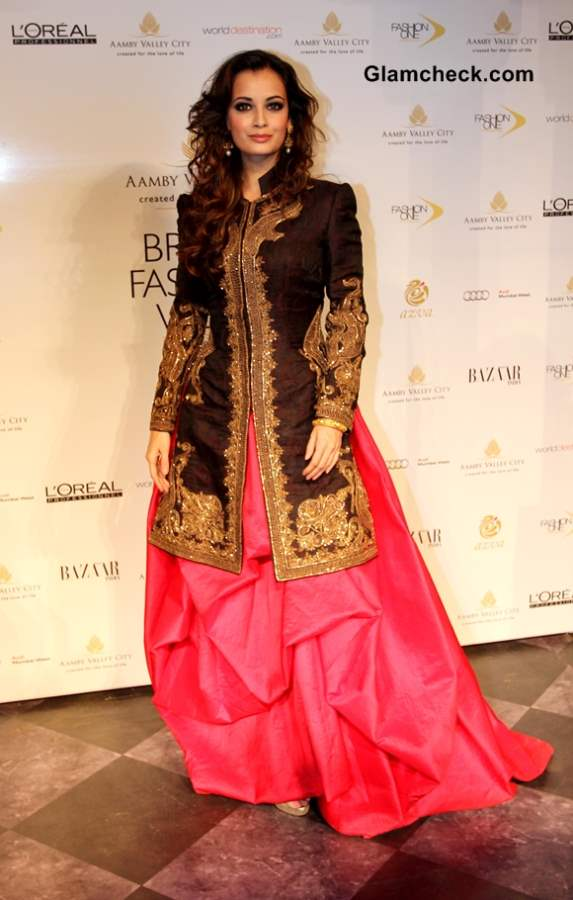 Dia Mirza Showstopper for Raghavendra Rathore at IBFW 2013