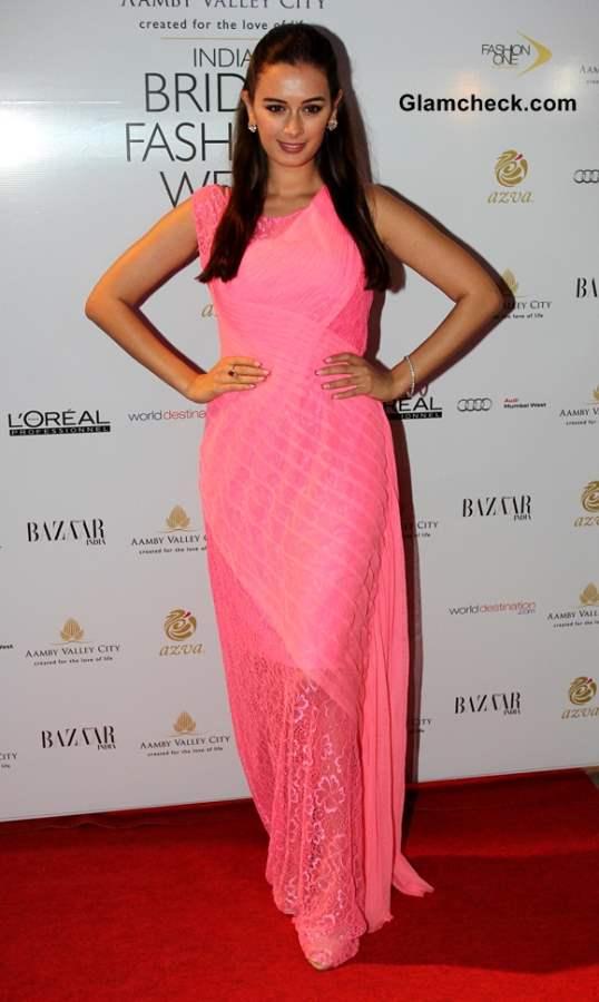Evelyn Sharma at India Bridal Fashion Week 2013 Day 6